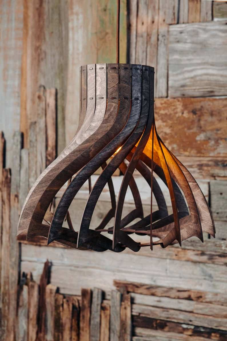Chandelier Wooden Ceiling Lamp