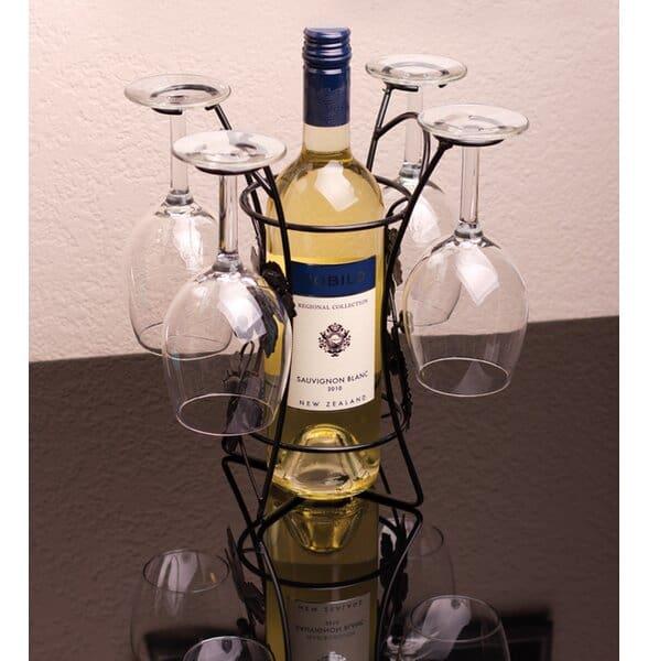 Classy Tabletop Wine Bottle Rack