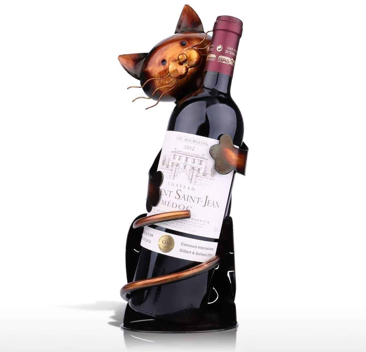 Cuddly Cat Wine Holder