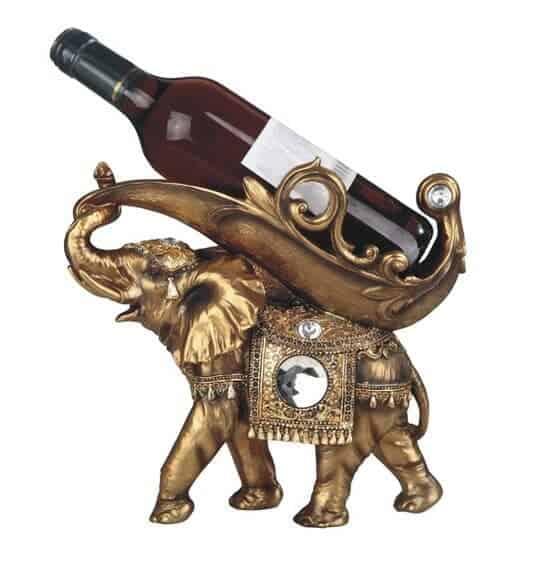 Elephant Tabletop Wine Bottle Holder