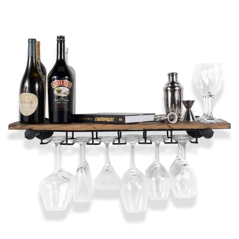Floating Shelf Stemware Holder Wine Rack