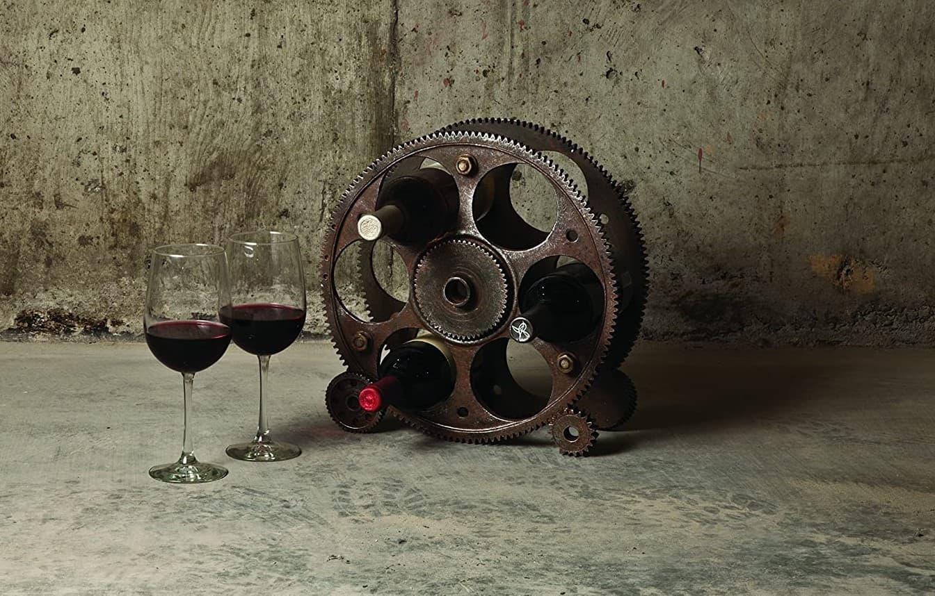 Gears And Wheels Wine Rack