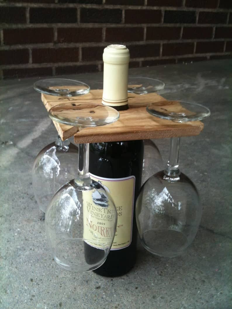 Party of Four Wine Glass Rack