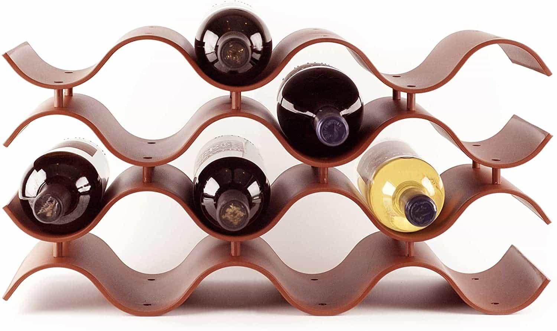 Wavy Countertop Wine Bottle Rack