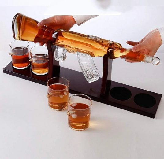 Quirky Rifle Gun Whiskey Decanter