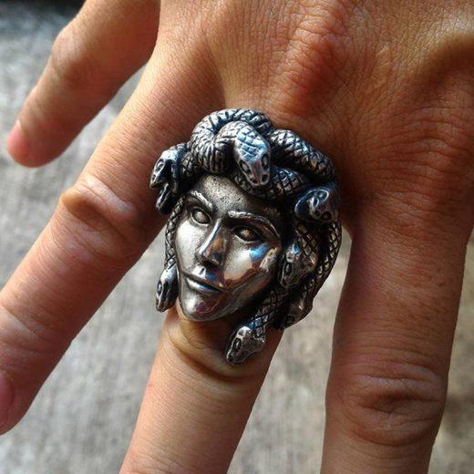 Mighty Medusa Greek Mythology Ring