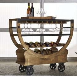 Portable Bar With Wine Storage