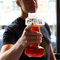 Macho Dumbbell Beer Glasses